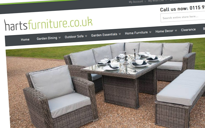 Harts Furniture new website is now LIVE!